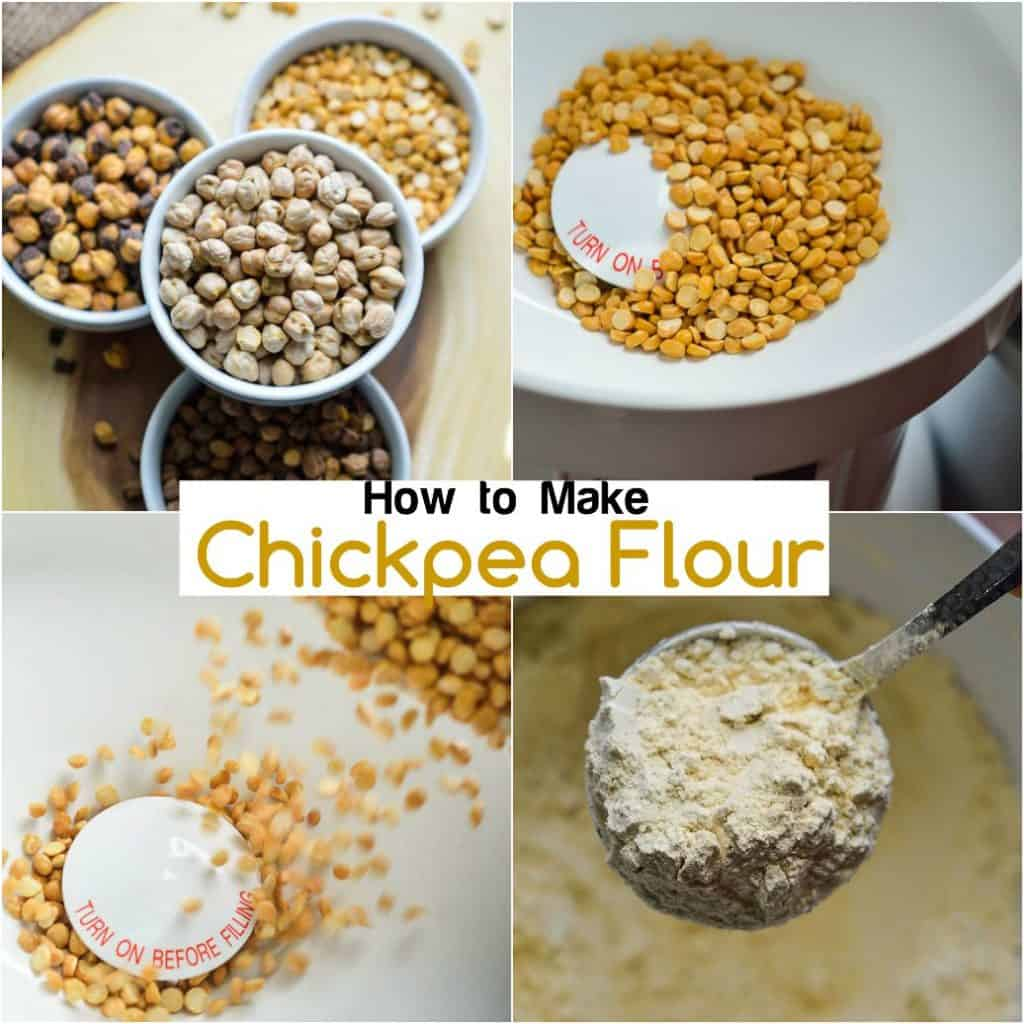 How to use a grain mill to make chickpea flour