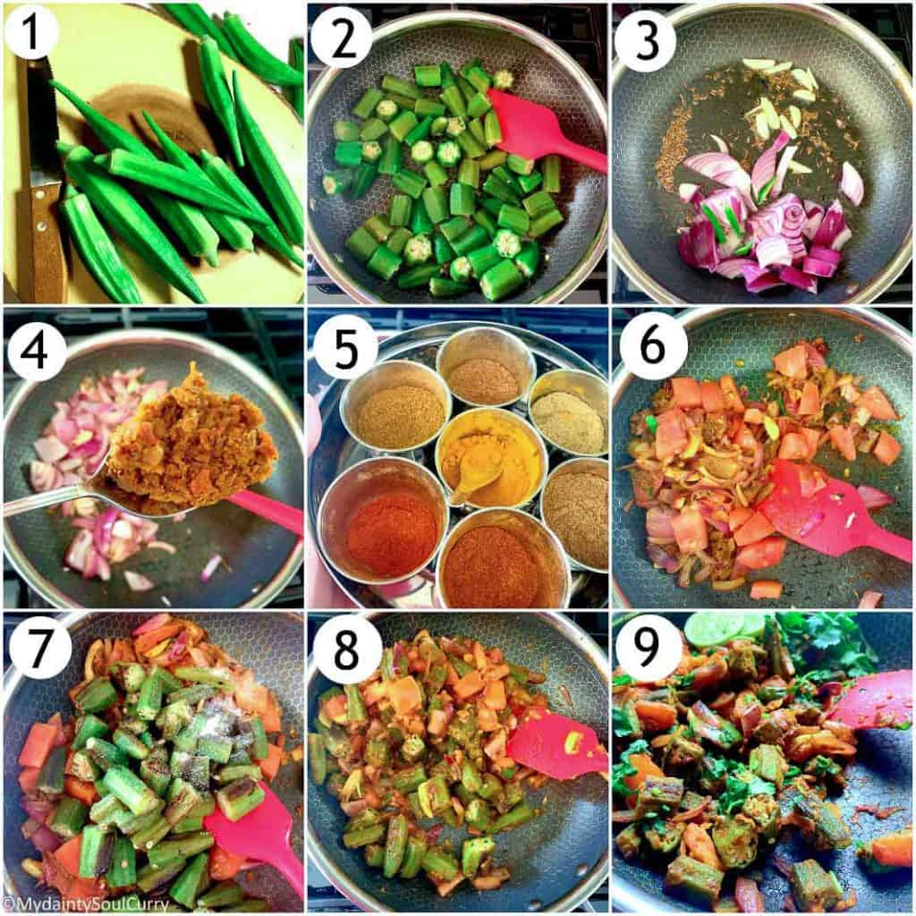 Easy Indian style Okra curry