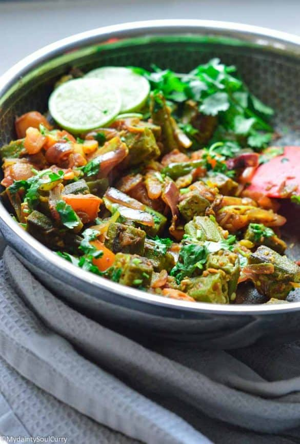 Easy Okra Masala Indian style