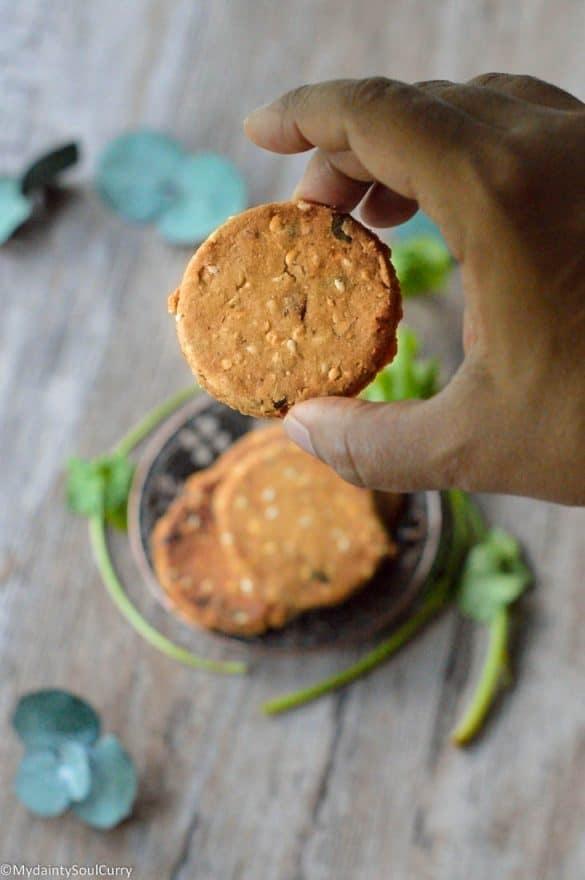 Rice flour chekalu or nippattu
