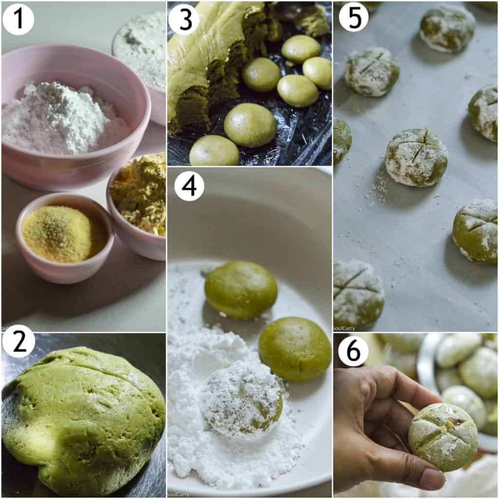 Step by step guide to make Indian naan khatai