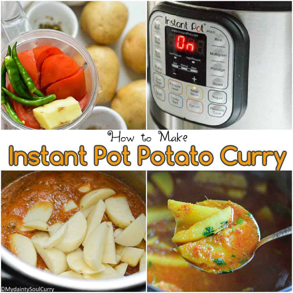 Instant Pot curried potato