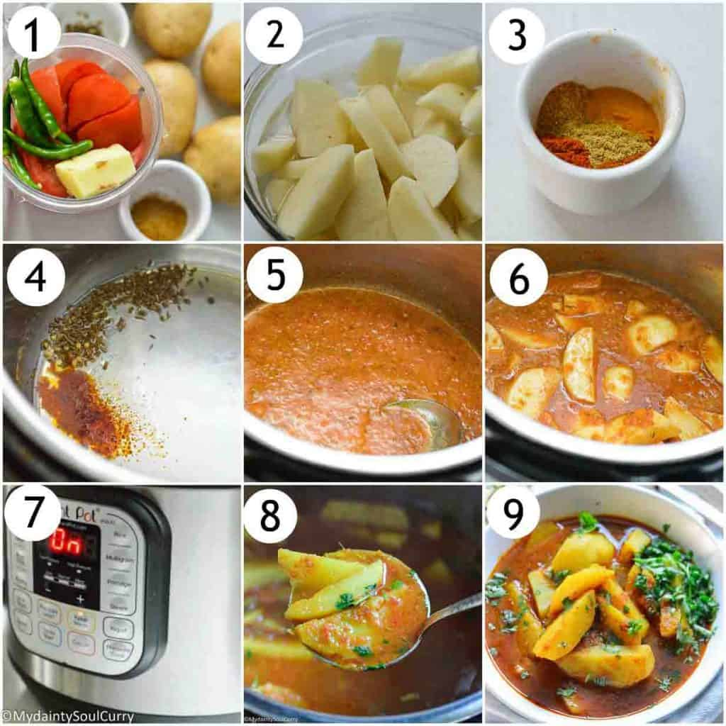 How to make potato curry in the instant pot