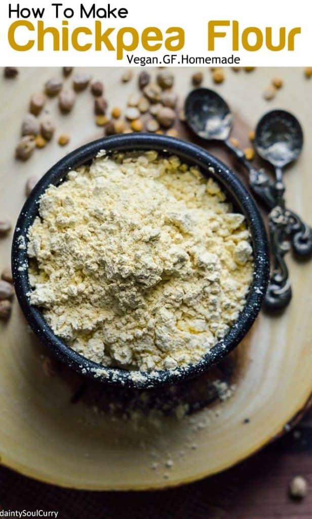 Easy homemade chickpea flour