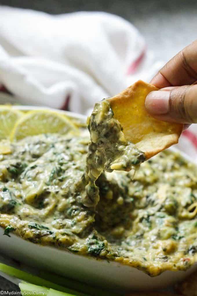Instant pot spinach artichoke dip in keto
