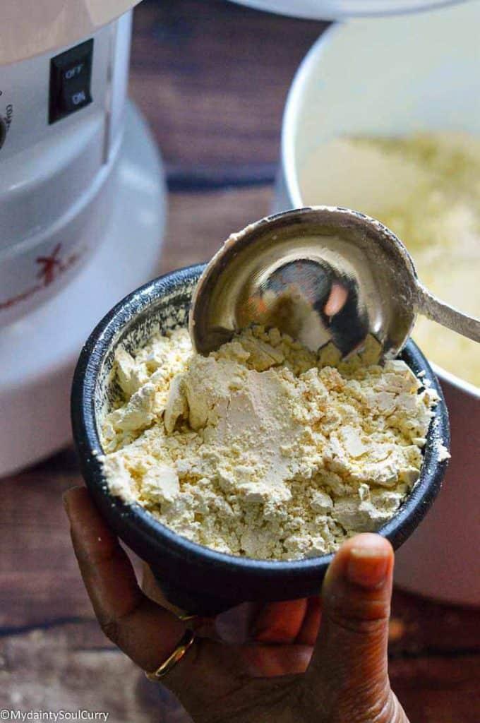 Chickpea flour in WonderMill