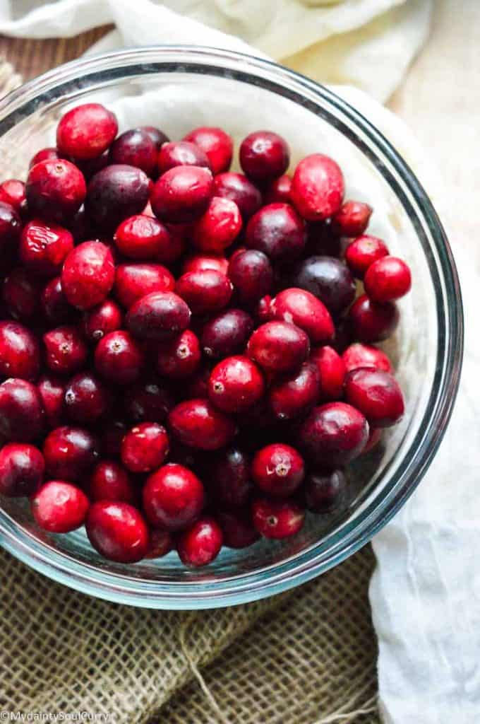 Fresh cranberries for cranberry sauce