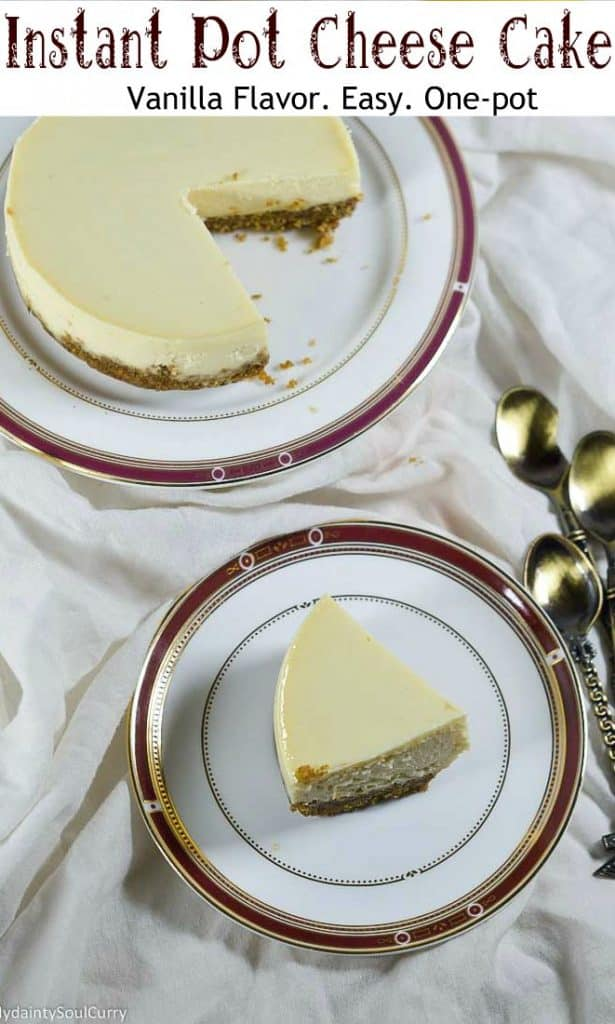 Easy cheesecake made in the instant pot