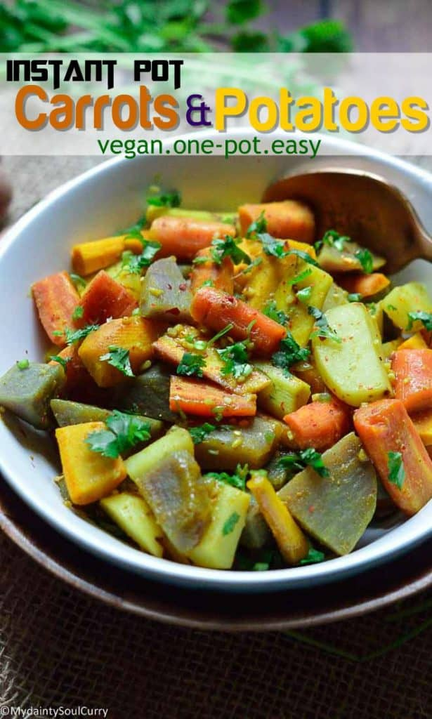 Easy instant pot carrots and potatoes medley