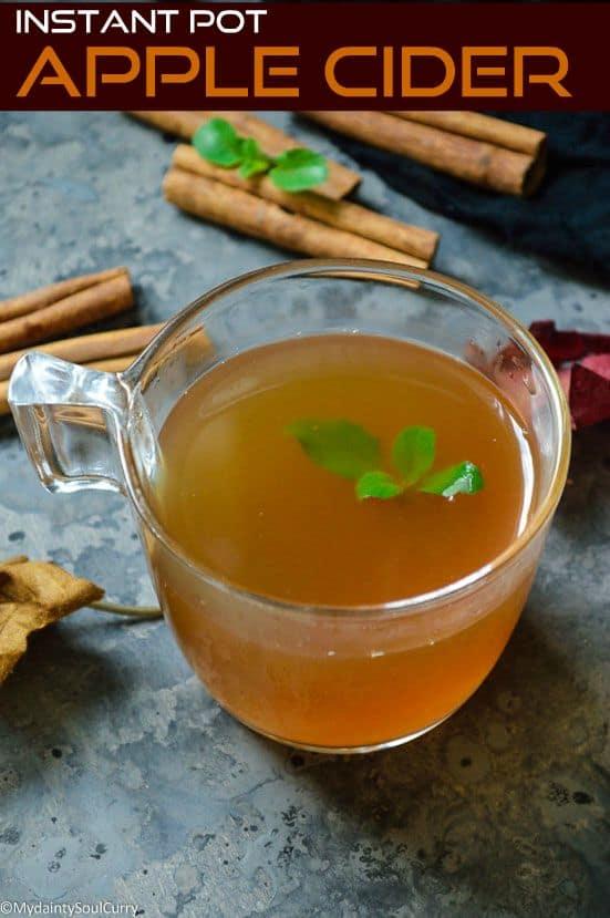 Easy Instant pot apple cider