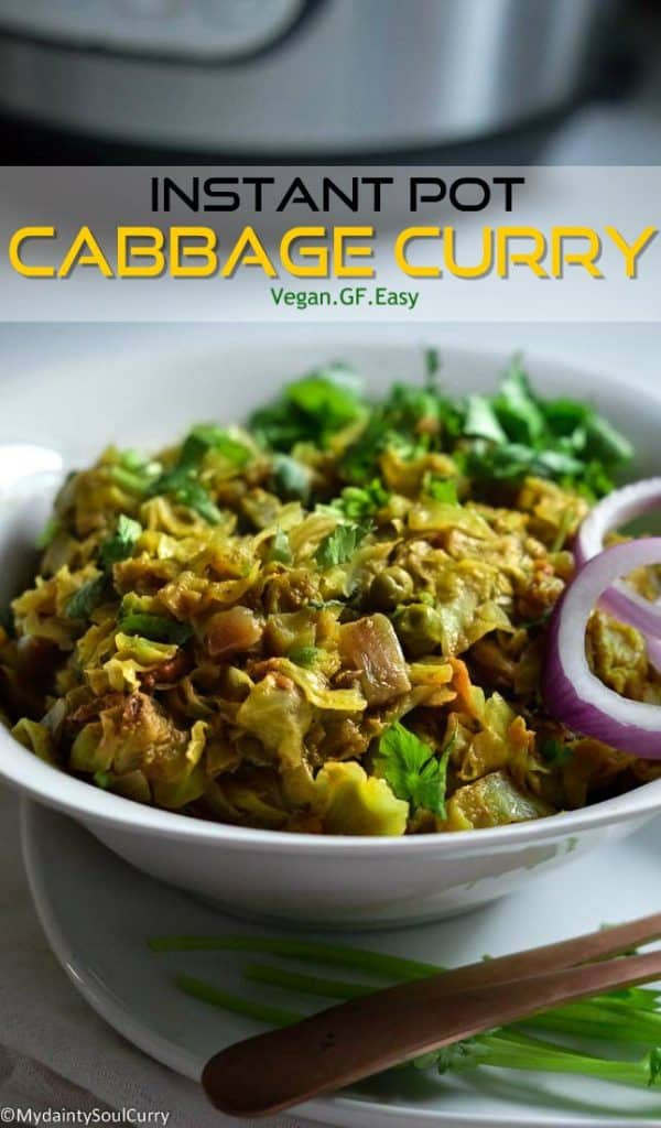 How to make instant pot cabbage curry