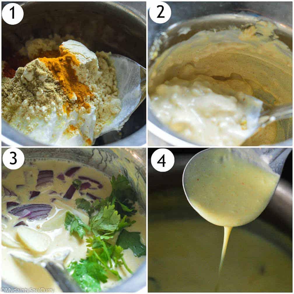 How to make the kadhi slurry