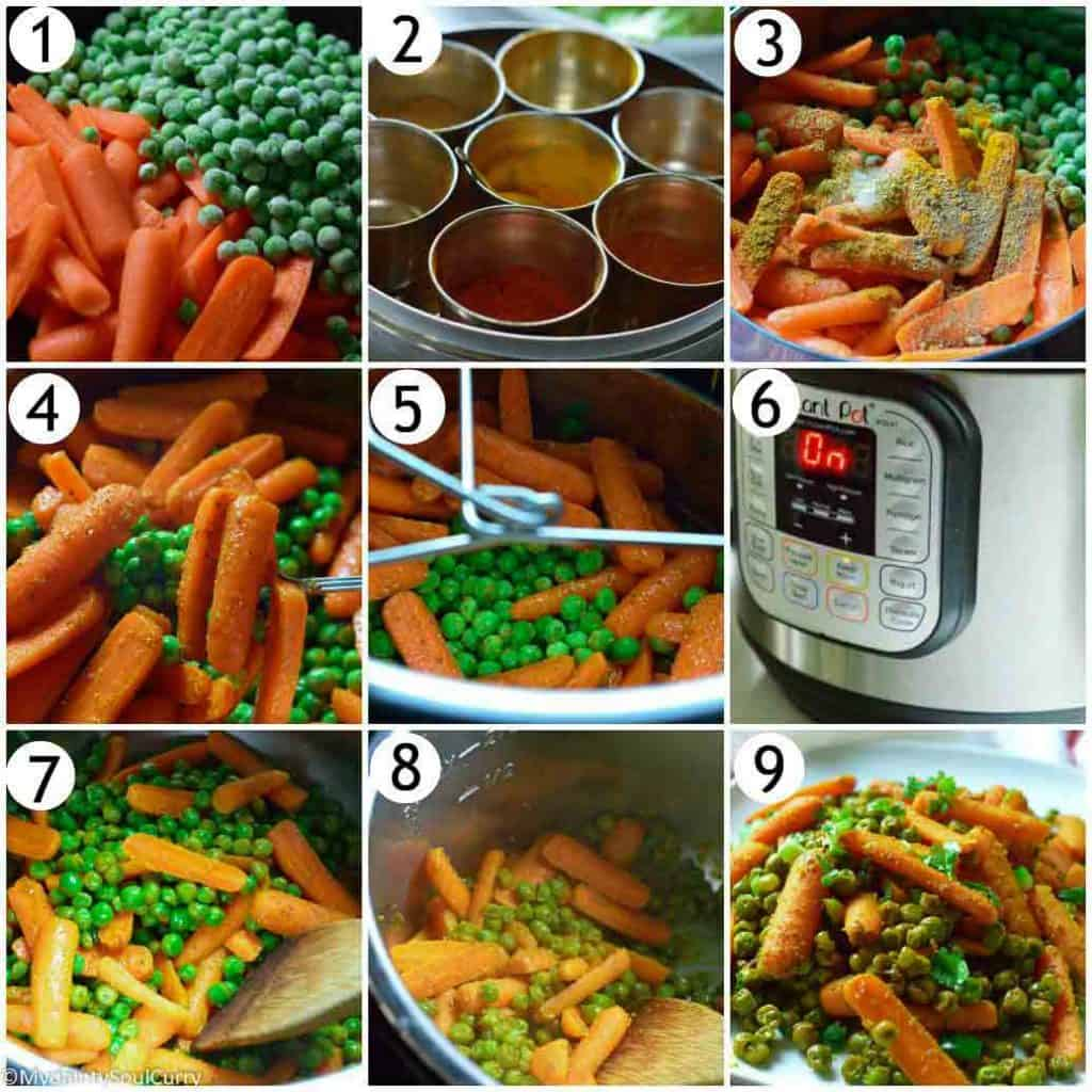 How to make carrots and peas in the instant pot