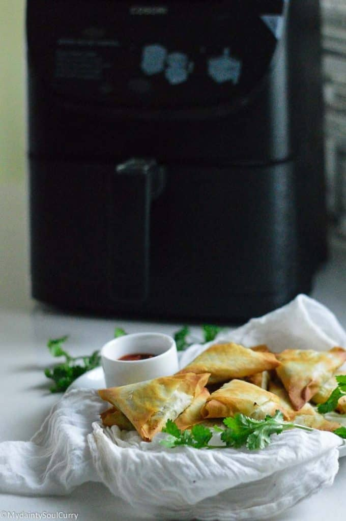 Samosa made in the air fryer