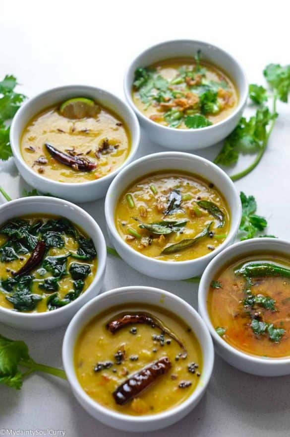 Toor dal cooked in six ways