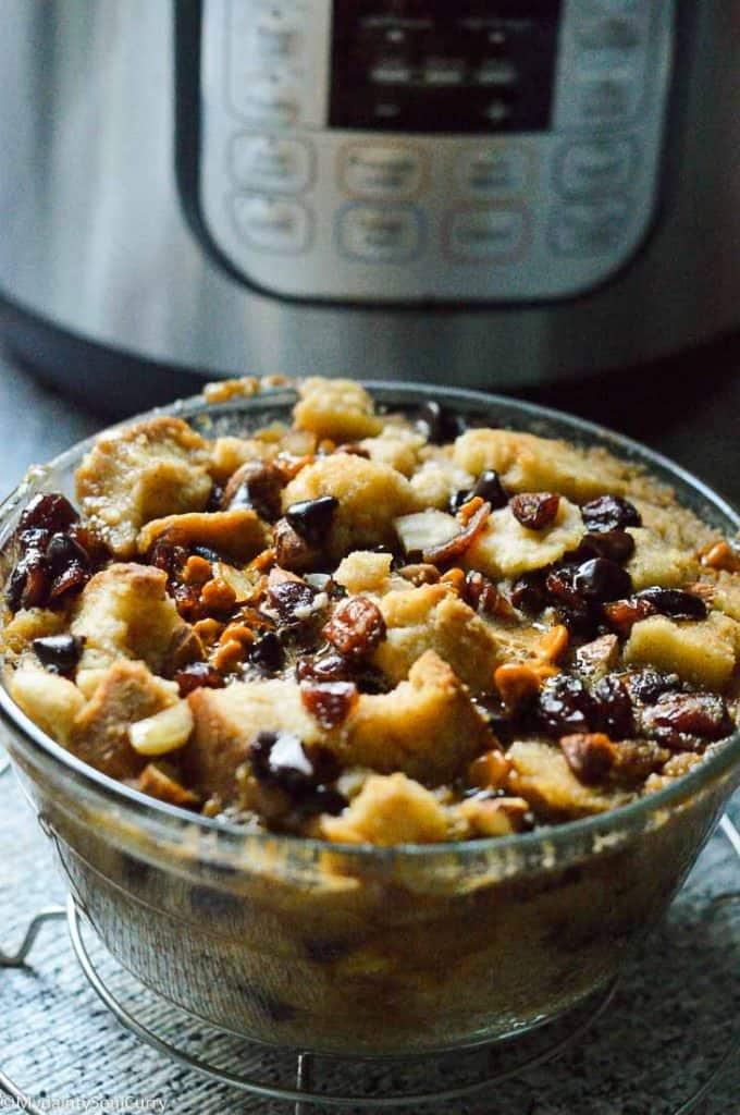Instant Pot vegan Bread Pudding
