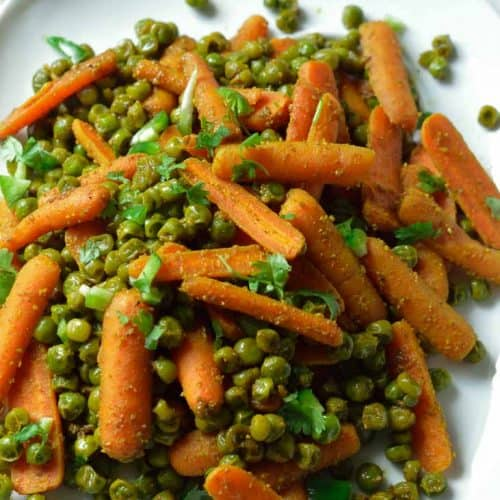 Instant pot carrots and peas