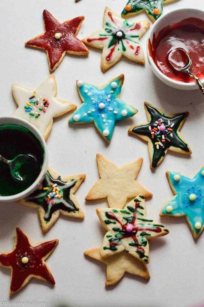 Decorating Vegan cookies