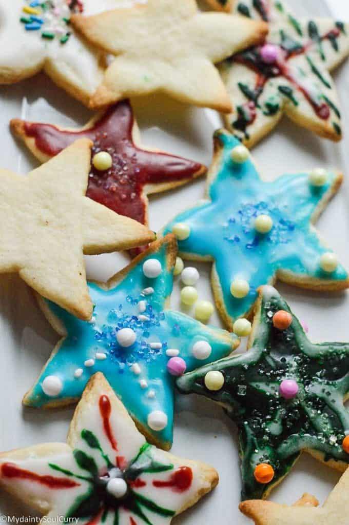 Keto Sugar cookies with royal icing