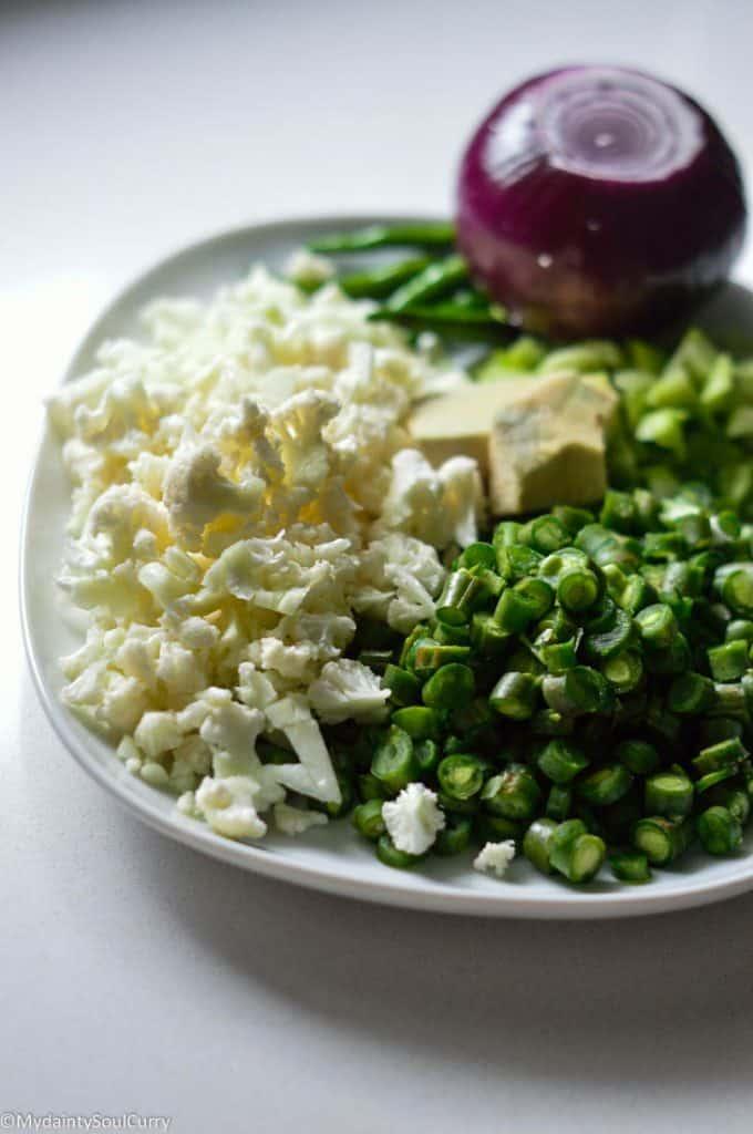 cauliflower samosa ingredients