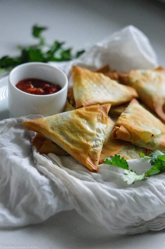 Easy keto baked samosa