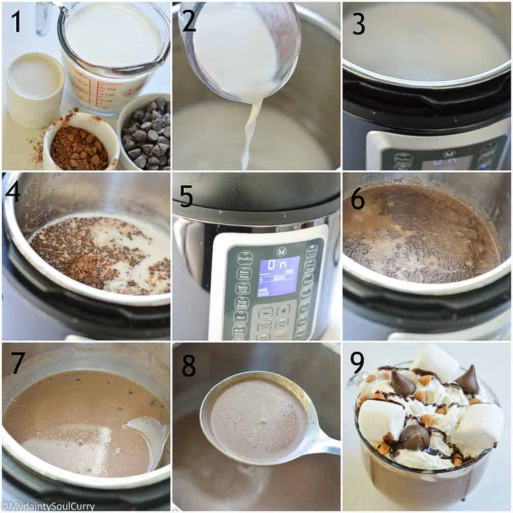 How to make hot chocolate in the instant pot