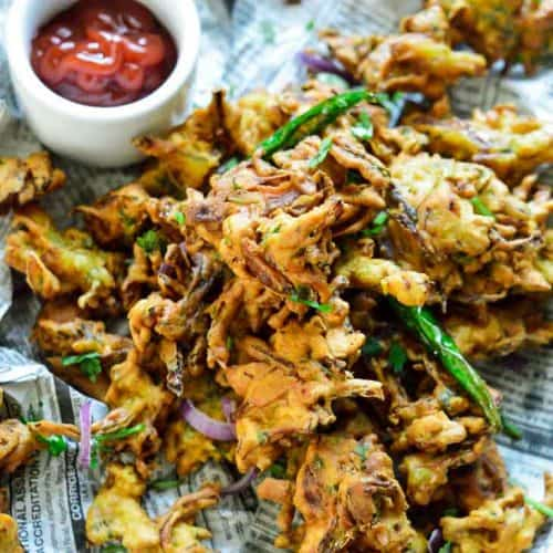Air fryer vegetable pakora