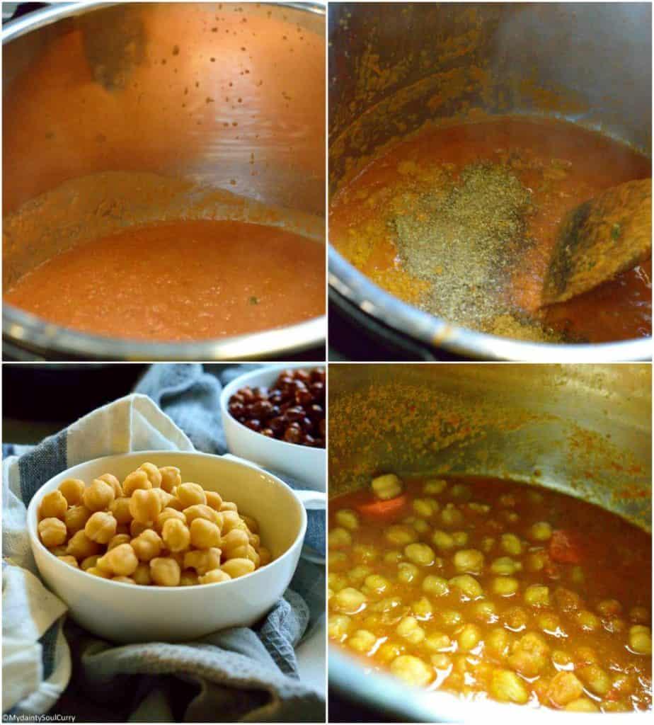 Way to make kali chana masala in the instant pot