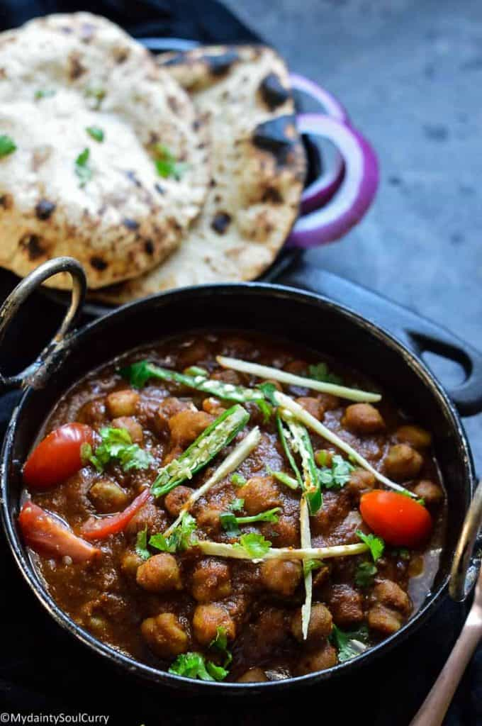 Pindi Kali chana Punjabi curry