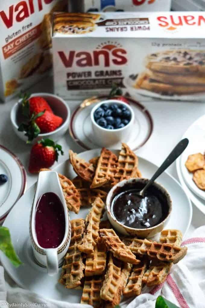 Waffle churros from Van's waffles