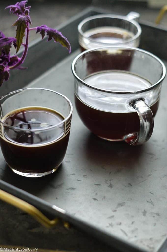 Black coffee brewed by GMCR pods