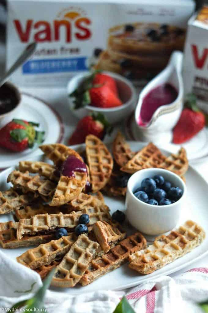 Easy Churros with Van's Waffles