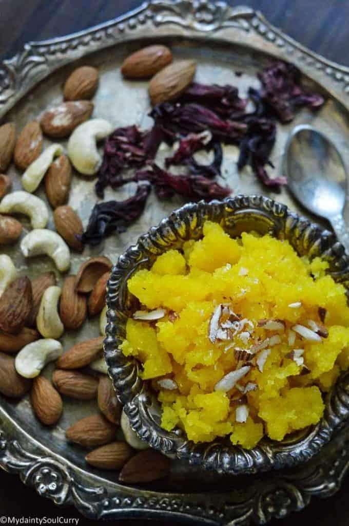 Pineapple Halwa in instant pot