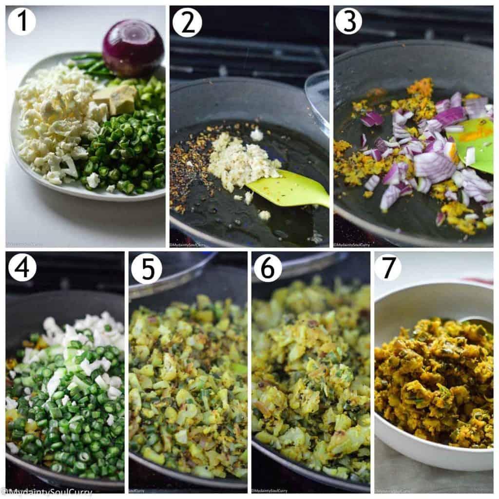 How to make cauliflower filling for samosas