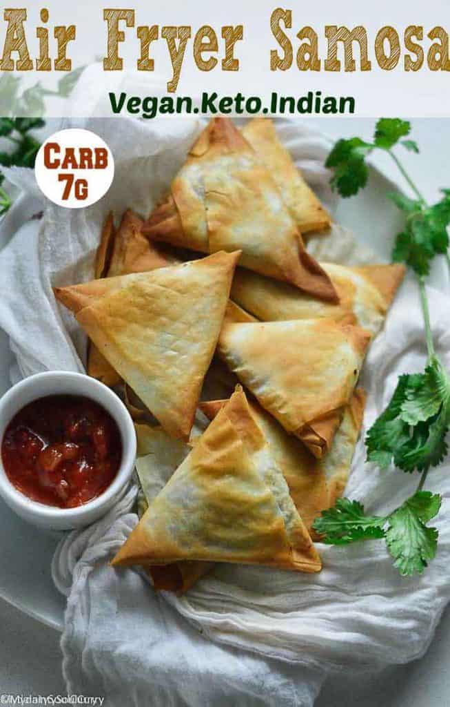 Easy Indian Samosa in air fryer