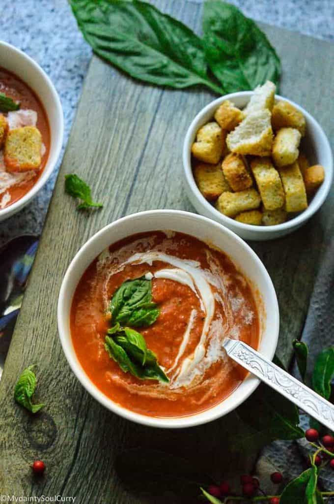 Easy Instant pot tomato bisque