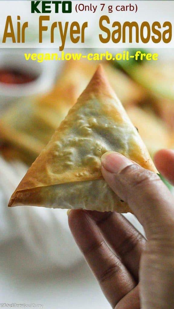 Easy air fryer samosa