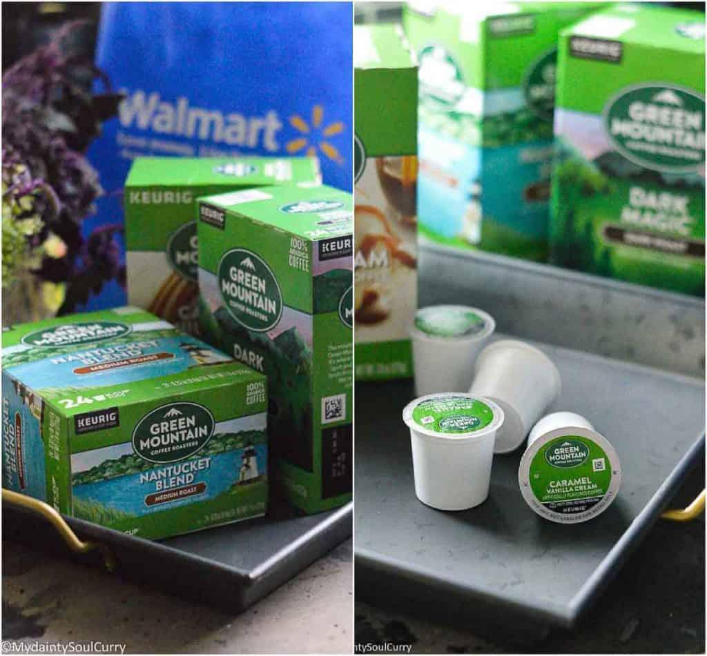 Walmart shopping GMCR coffee pods