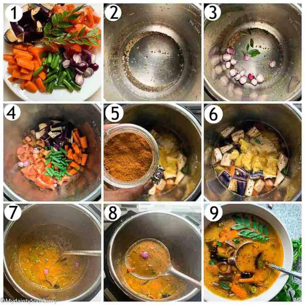 Instant pot South Indian Sambar