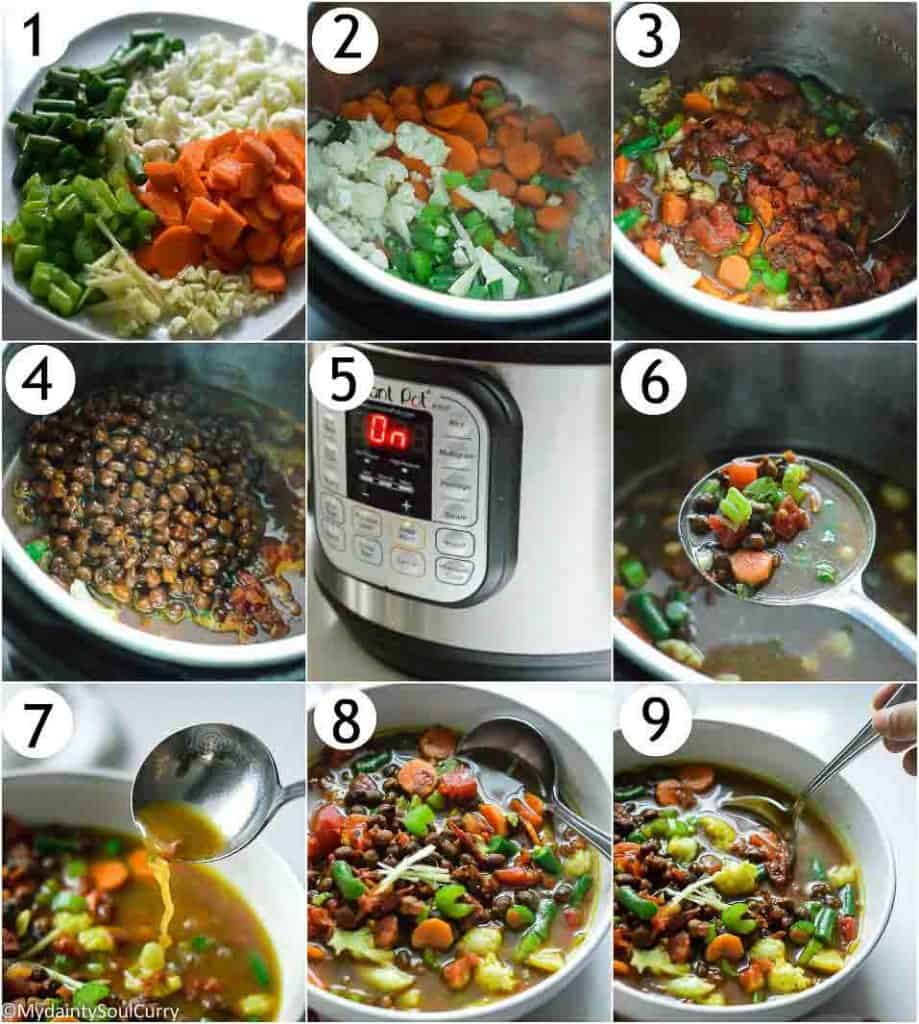 How to make kala chana soup in the instant pot