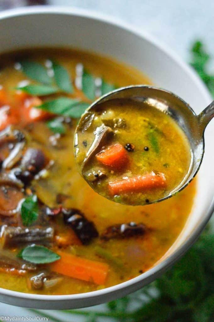 South Indian vegetable sambar
