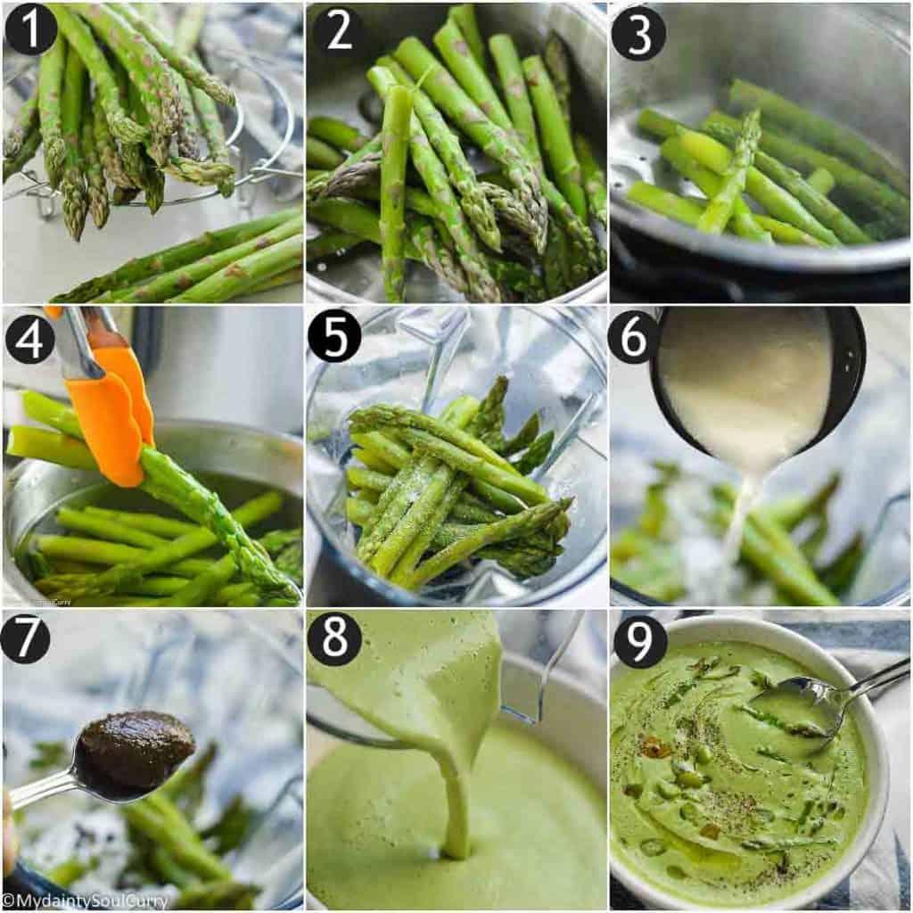 How to make instant pot asparagus soup