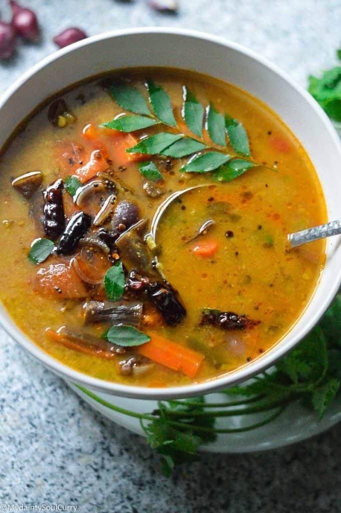 Hotel sambar in the instant pot