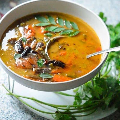 Instant pot sambar dish