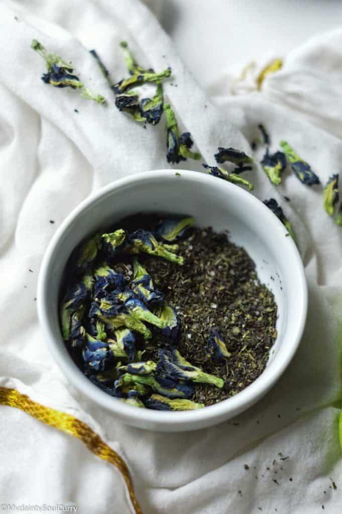 Pea flower lemongrass tea blend