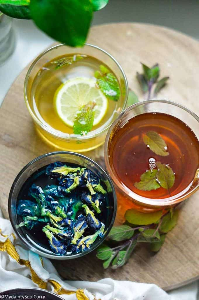 Colorful immunity boosting tea