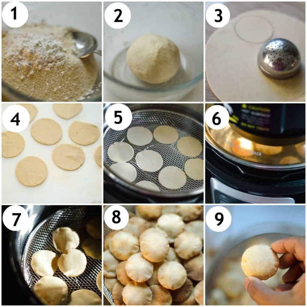 How to make puri in air-fryer