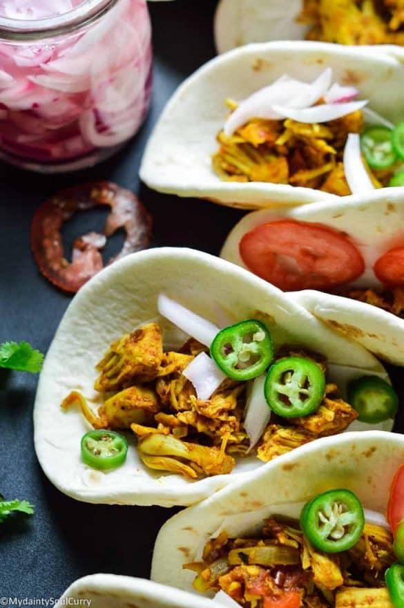 Curry Jackfruit instant pot taco