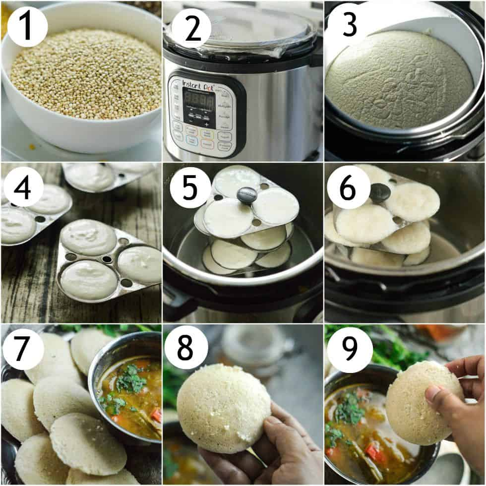 How to make quinoa idli - step by step