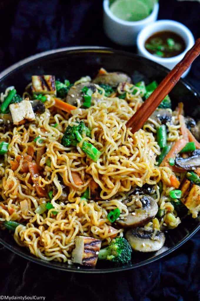 Instant pot Hakka Noodles